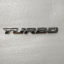 Turbo Universal Car Motorcycle Auto Chrome 3D Metal Emblem Badge Decal Sticker