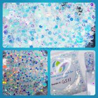 LIMITED EDITION White Rainbow Diamond Chunky Nail Art Glitter Mix Acrylic Gel NP