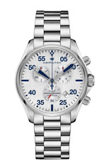 Hamilton H76712151 Khaki Pilot 44mm Men's Chronograph Stainless Steel Watch