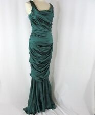 Dolce & Gabbana Emerald Green Dress 46 10 12 Silk Mermaid Full Length Prom Party