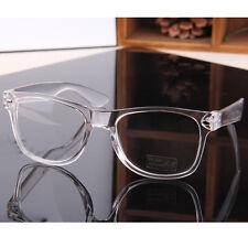 Transparent Nerd Brille Nickelbrille Gläser Glasses Streber Klarglas Unisex Neue