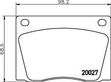 Mintex Bremsbeläge vorne Set mgb522 - BRANDNEU - Original - 5 Jahre Garantie