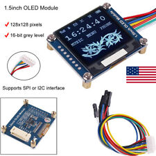 "I2C OLED Display Module 1.5"" 128x128 SSD1327 for Arduino/Raspberry/Jetson Nano"