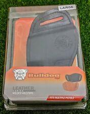 Bulldog Holsters Leather Series, Right-Hand Belt Slide, Large, Black - MLB-L