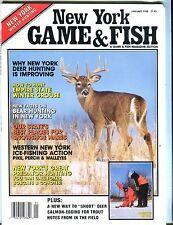 New York Game & Fish Magazine January 1988 EX No ML 050917nonjhe