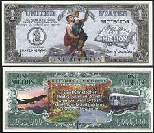 Saint Christopher Patron of Traveler Million Dollar Bill - Lot of 2 BILLS