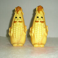 Vintage Anthropomorphic Salt and Pepper Shakers Corn on Cob Made in Japan