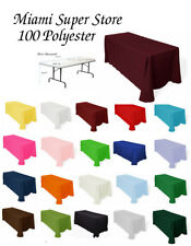 Tablecloth Rectangular for table 4', 5', 6' or 8' .Multiple Size & Color