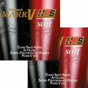 Yasaka Mark V HPS Soft DOPPELPACK / Tischtennisbelag / NEU / zum Sonderpreis