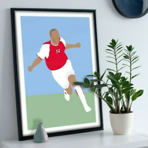 Thierry Henry Arsenal Print Picture Football Art Poster A4 A3 A2 A1 (No Frame)