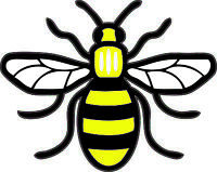 Colour Manchester Bee Vinyl Decal Sticker Car, Van, Laptop Proud to be Mancunian