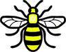 Colour Manchester Bee Vinyl Decal Sticker Car, Van, Laptop Proud to be Mancunian