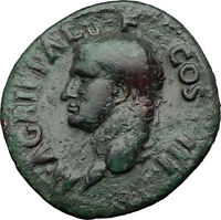 Marcus Vipsanius Agrippa Augustus General Ancient Roman Coin by CALIGULA i60656