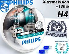 Philips H4 Xtreme Vision +130% Headlight Bulbs 12V 55W eXtreme P43t-38 +Blue W5W