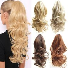 USA Claw Clip On Ponytail Thick Clip In Pony Tail Hair Extensions As Human Piece