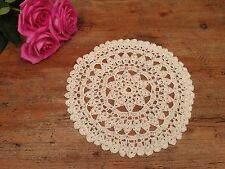 VINTAGE CROCHET CREAM DOILY. 24 Dia. MORE AVAIL CHECK OUT OUR OTHER LISTINGS!