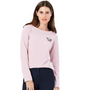 Joules Womens Harbour Emb Breathable Cotton Jersey Top