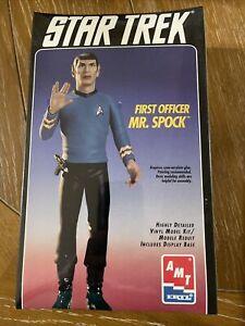 """AMT ERTL Star Trek First Officer Mr Spock 12"""" Vinyl Model Kit #8704 Sealed & NEW"""