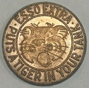 1966 Australia Esso Petrol Tiger 1 Cent Token - Put's a Tiger In Your Tank