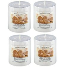 4-PACK Luminessence Fresh Linen Scented Pillar Candle Relaxing Atmosphere