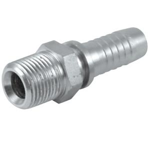 "100 x 1/2"" NPT Male x 3/8"" Hydraulic Hose Insert Pipe Crimp Fitting Adaptor Barb"