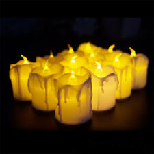 2 Pcs PP Electric Candles Lights for Christmas Halloween Wedding with Battery