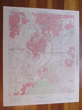 San Bernardino South California 1969 Original Vintage USGS Topo Map