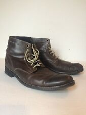 Cole Haan Men's Top Stitch Chukka Dark Brown Boot Size 13 M Lace Up