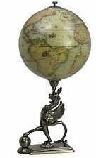 Rustic Vintage Gothic Griffon Globe of Old World Map  GL053