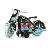 Jouet Mécanique Ancien Modèle de Moto en Métal Collection Cadeau Enfant