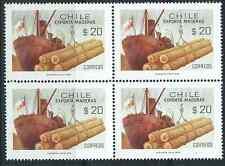 CHILE 1978 Sc.516 Loading Timber Flag block 4 MNH