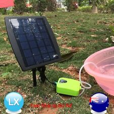 Day/Night Solar Powered Oxygenator Oxygen Air Fish Pond Pool Pump water garden