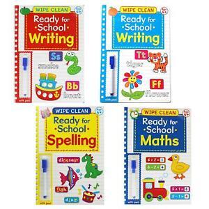 Wischer Sauber Bereit Für Schule Buch Mit Stift Alter 4+ Auswahl Mathe Schreiben