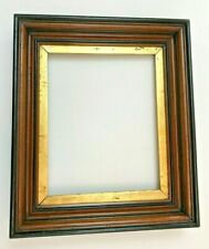 """ANTIQUE VICTORIAN GOLD GILT DEEP WALNUT SHADOW BOX PICTURE FRAME a/b 14"""" by 12"""""""