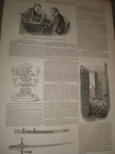 Chess match Staunton Horwitz & collapsed Tippings warehouse Liverpool 1846 print