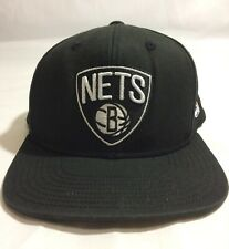 Youth Adidas Brooklyn Nets NBA Black Snapback Hat Cap One Size Fits Most