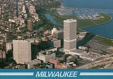 Downtown Milwaukee Aerial, Wisconsin, First WI Center, McKinley Marina, Postcard