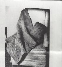Crocheted Afghan Pattern Vintage New (Lattice)