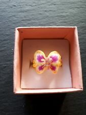 Brand new childs yellow butterfly ring! UK size J.5! Kids childrens gift!