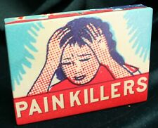 Blue Q Painkillers Stash Cigarette Joint Trinket Box - discontinued scarce Nos
