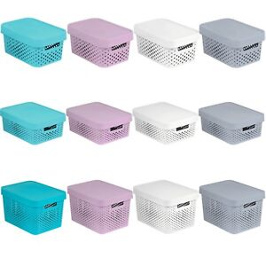 Storage Box Container Lidded Handles CURVER Infinity Openwork S M L / 4.5 11 17L