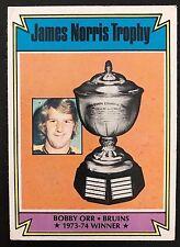 1974-75 Topps James Norris Trophy Bobby Orr #248 HOF