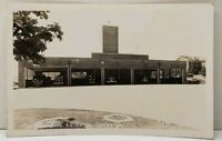 Seattle WA Fire House Naval Air Station Looking South RPPC Postcard F9