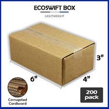 200 6x4x3 Ecoswift Brand Cardboard Box Packing Mailing Shipping Corrugated