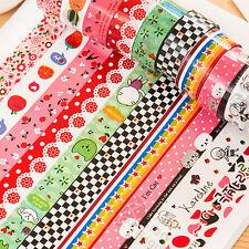 10x Washi papel scrapbooking decorativos pegatinas adhesivas adhesivo masking