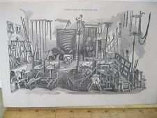Vintage Print,FARMING TOOLS,100 Years Progress,L.Stebbins,1870