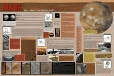 SPACE  POSTER ~ MARS EXPLORING RED PLANET 24x36 NASA Science