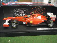 F1 FERRARI F150 ITALIA MASSA 2011 # 6 formule 1 voiture au 1/18 HOT WHEELS W1074