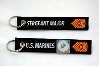 US MARINE CORPS SERGEANT MAJOR KEY CHAIN ENLISTED RANK MILLITARY E-9