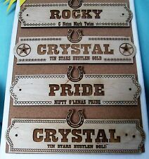 Custom Horse Name Plate Stall Barn Personalized Engraved Wood Sign